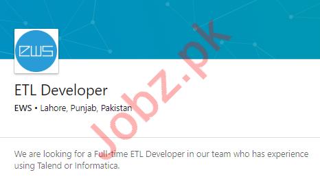 ETL Developer Job in Lahore