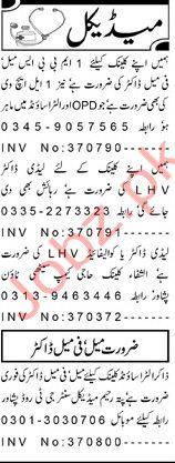 MBBS Doctor LHV Jobs in Peshawar