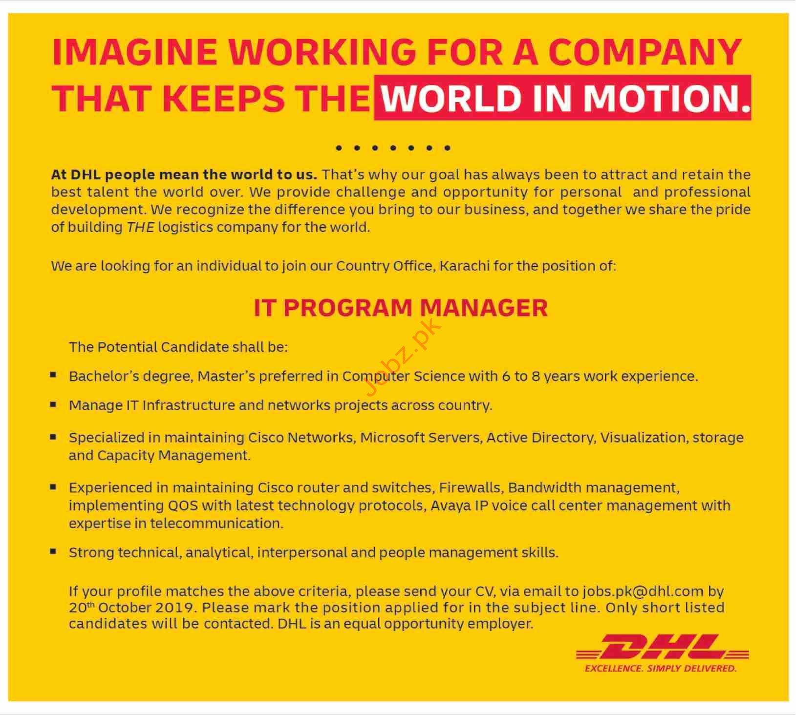 IT Program Manager Jobs in Karachi