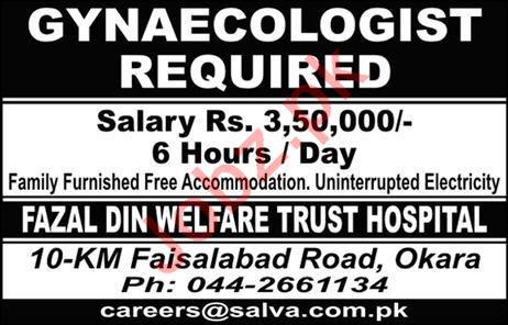 Gynaecologist Job 2019 in Okara