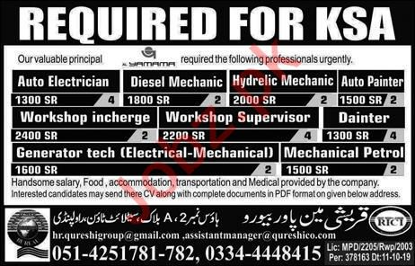 Auto Electrician & Diesel Mechanic Jobs 2019
