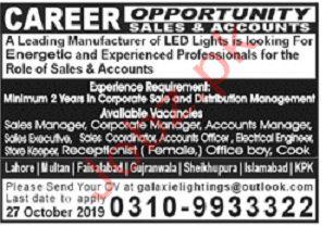 LED Lights Company Jobs 2019