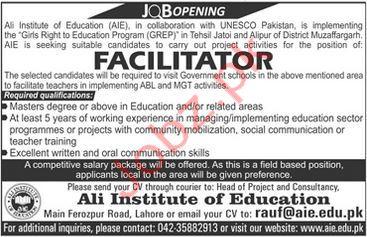Ali Institute of Education Muzaffargarh Jobs