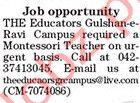 The Educators Gulshan e Ravi Campus Lahore Jobs