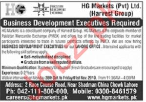 Business Development Executives Jobs 2019 in Lahore