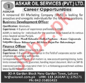 Askar Oil Services Pvt Ltd Jobs 2019