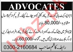 Advocates High Court & Typist Jobs in Karachi