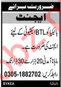 Bykea Karachi Jobs 2019 for BTL Agent