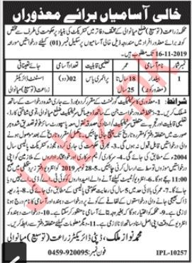 Agriculture Department Mianwali Jobs 2019