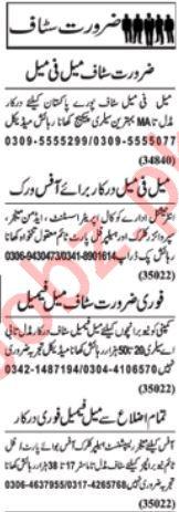 Admin Manager Supervisor Clerk Jobs in Lahore