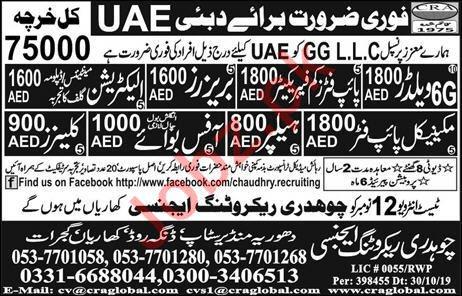 Golden Gulf Contracting Co LLC Jobs 2019 in Dubai UAE