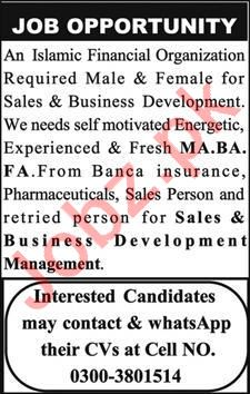 Sales & Business Development Manager Jobs In Quetta