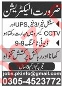Electrician Job in Lahore