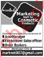Cosmetics Company Jobs For Marketing Staff in Lahore
