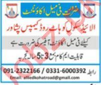 Allied School Kohat Road Campus Peshawar KPK Job 2019