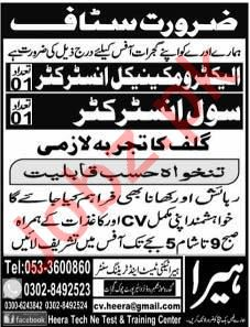 Civil Instructor & Electro Mechanical Instructor Jobs 2019