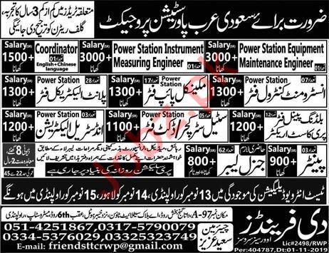Power Station Project Jobs 2019 in Saudi Arabia