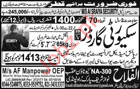 Security Guards Jobs Open in Qatar