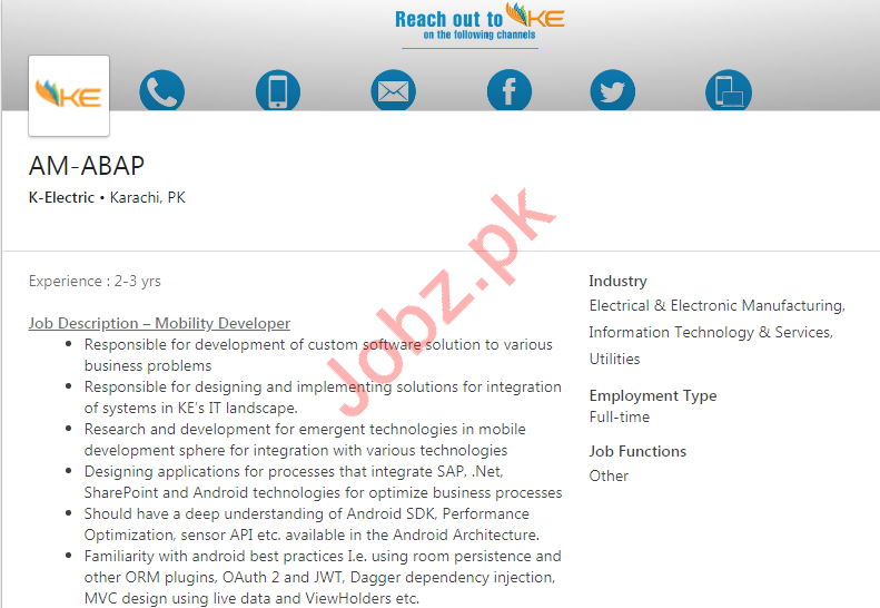K-Electric Jobs For Assistant Managers in Karachi