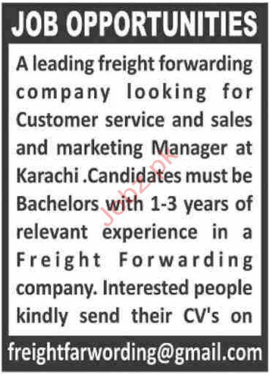 Freight Forwarding Company Jobs in Karachi