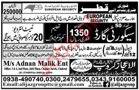 European Security Company Job For Security Guard in Qatar