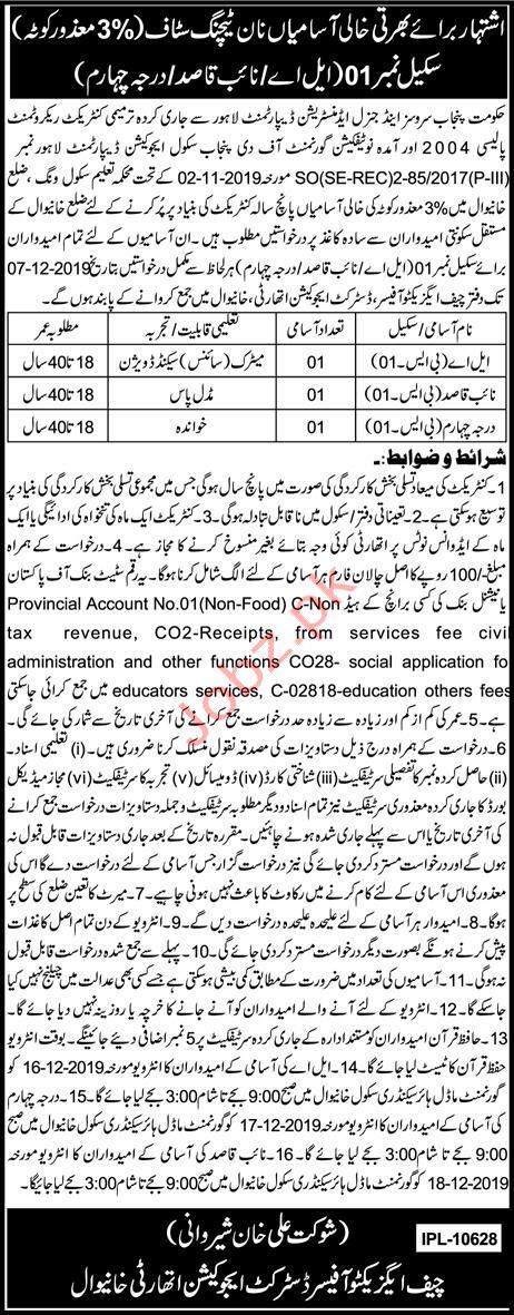 District Education Authority Khanewal Jobs 2019