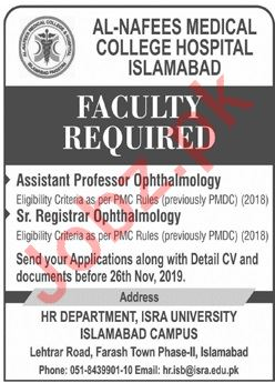 Al Nafees Medical College Islamabad Campus Jobs 2019