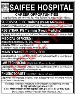 Saifee Hospital Jobs 2019 in Karachi