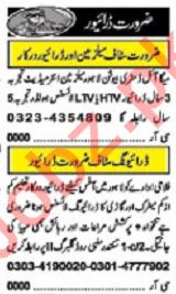 Khabrain Sunday Classified Ads 17th Nov 2019 for Driving