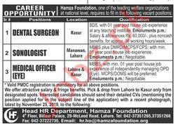 Hamza Foundation NGO Jobs 2019 For Medical Staff