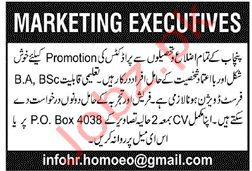 Marketing Executives Jobs 2019 in Lahore