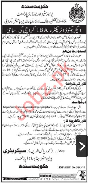 Board of Revenue Job 2019 For Executive Director in Karachi