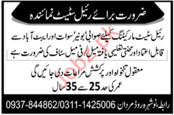 Real Estate Marketing Company Jobs in Mardan KPK