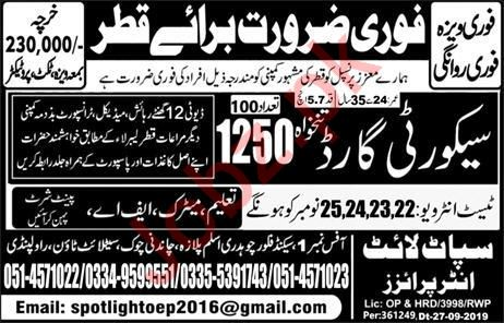 Security Guard Job in Qatar