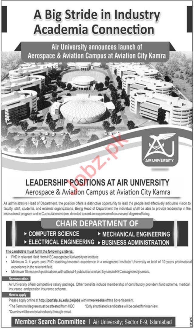 Pakistan Air Force PAF Air University Jobs 2019 in Kamra