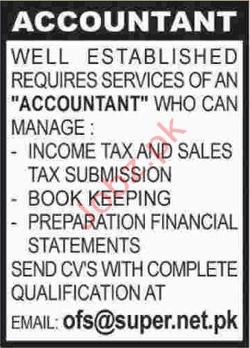 Accountant Jobs in Karachi