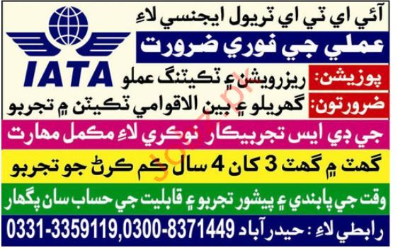 IATA Travel Agency Hyderabad Jobs 2019