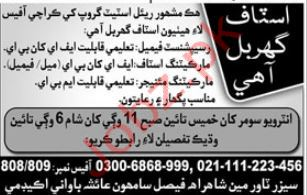 Female Receptionist & Marketing Manager Jobs 2019