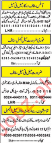 Daily Khabrain Newspaper Classified Jobs In Lahore