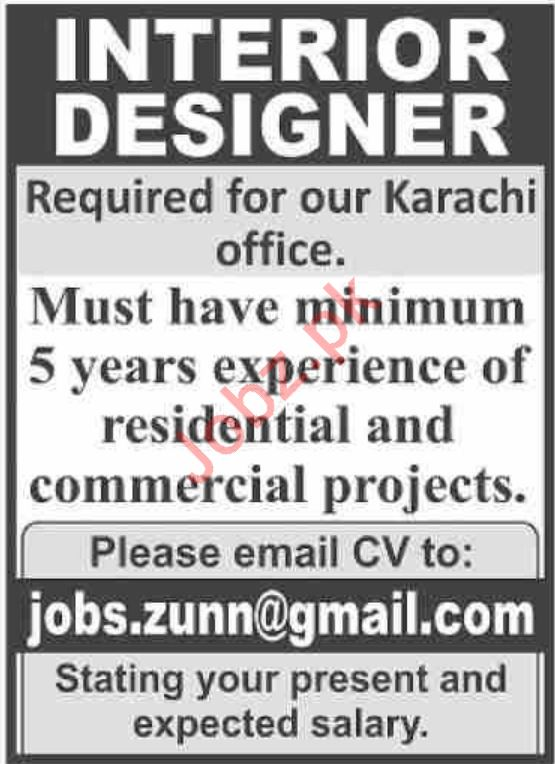 Interior Designer Jobs In Private Company 2020 Job Advertisement Pakistan
