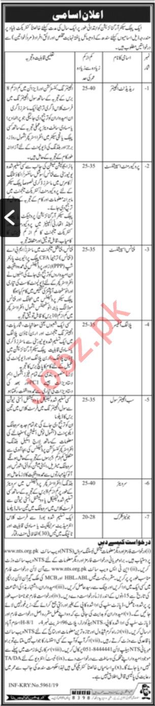 Public Sector Organization Jobs In Karachi via NTS