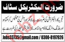 Electrical Staff Jobs in Private Company