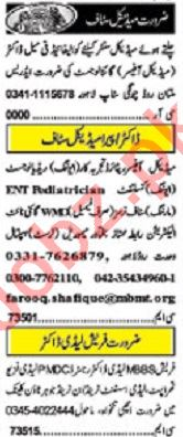 Khabrain Sunday Classified Ads 1st Dec 2019 for Medical