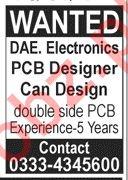Electronics PCB Designer Job 2019 in Lahore