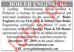 Platinum Panels Manufacturing Group Jobs in Peshawar KPK