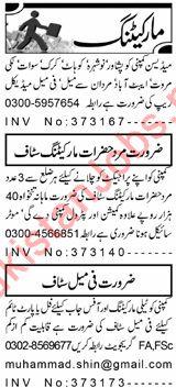 Daily Aaj Marketing & Sales Staff Jobs 2019 in Peshaar