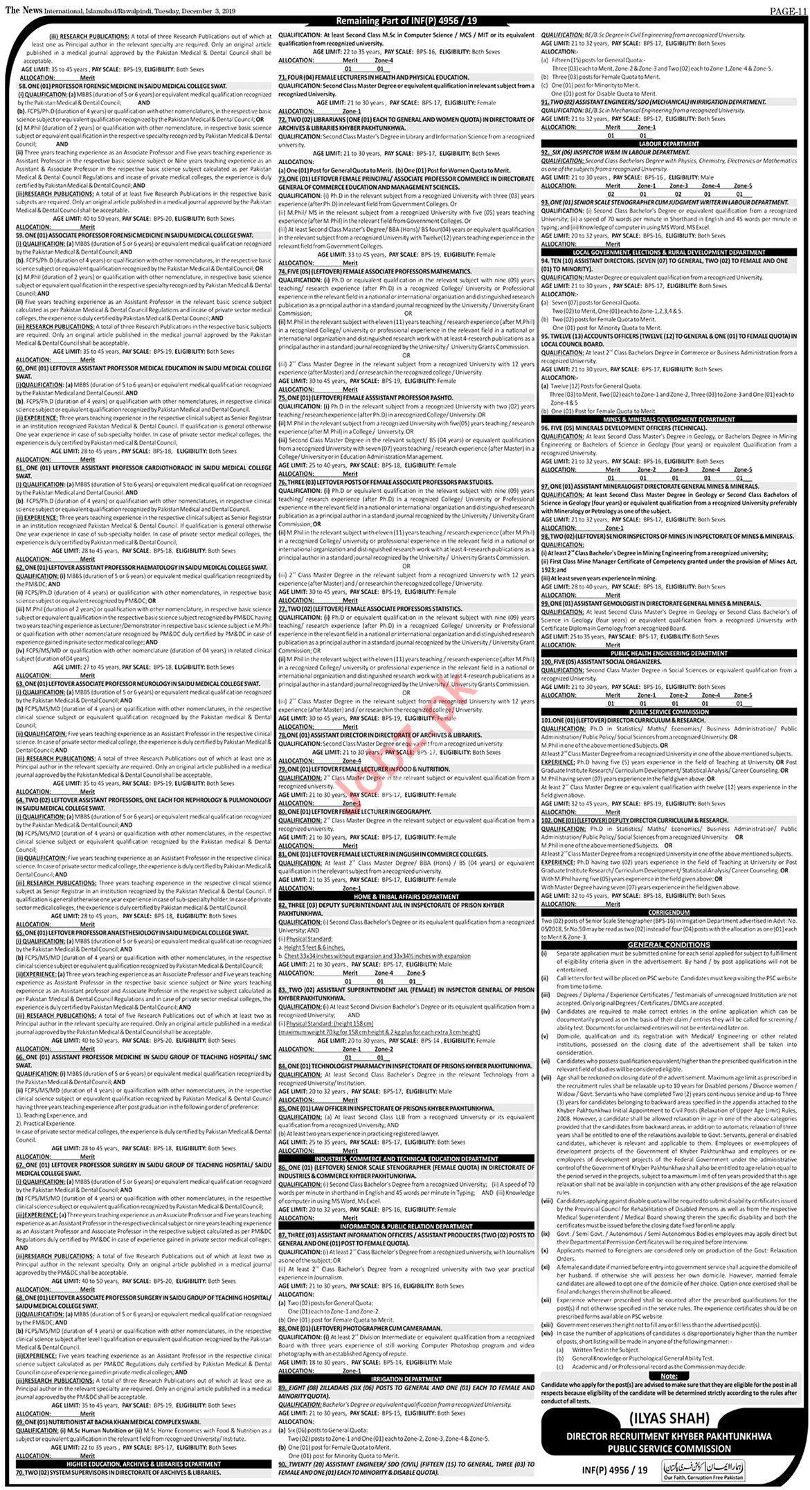 KPPSC Pakistan Forest Institute Jobs 2019