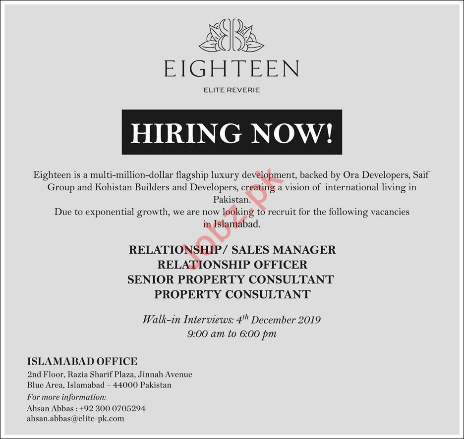 Relationship Officer Jobs in Eighteern Elite Reverie