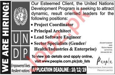 UNDP United Nations Development Programme KPK Jobs 2019