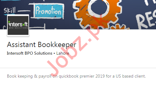 Assistant Bookkeeper Job 2019 in Lahore